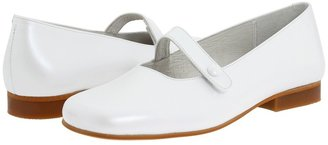 De Osu B-6483 SS11 (Toddler/Youth) (White Pearl Leather) - Footwear