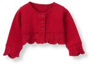 Janie and Jack Pointelle Crop Cardigan