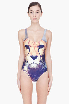 We Are Handsome Cheetah Scoopback One Piece Swimsuit