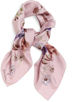 """Brooks Brothers Silk Twill Tossed Bouquets 36"""" Square"""