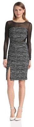 Vince Camuto Women's Cocktail Dress with Sheer Sleeves