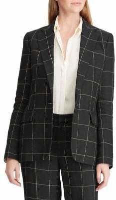 Lauren Ralph Lauren Windowpane Tweed Blazer