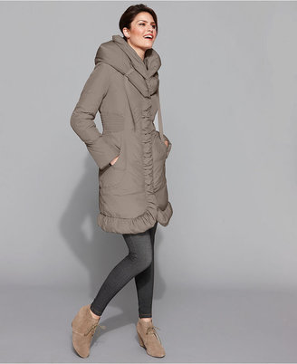 Tahari Petite Coat, Mariana Ruched Puffer
