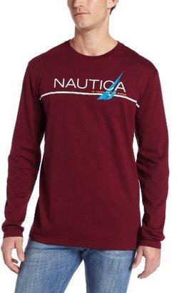Nautica Men's Long Sleeve Branded T-Shirt