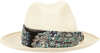 Lanvin Fabric-trimmed Panama Hat
