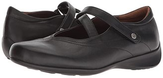 Wolky Passion (Black Smooth Leather) Women's Flat Shoes