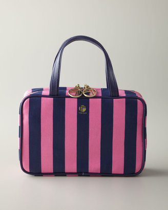 """Horchow """"Kelly Stripe"""" Travel Accessories"""