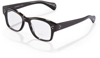 Oliver Peoples Jannsson Square Fashion Glasses, Black