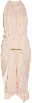 Estéban Paris Cortazar Gathered accordion-pleated chiffon dress