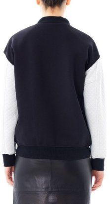 Tibi Contrast quilted bomber jacket