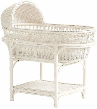 Pottery Barn Kids Bassinet 3 with Casters Taupe and Pad
