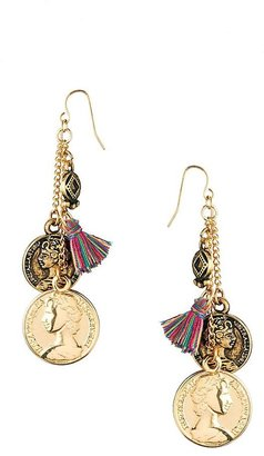 Asos Coins & Tassel Earrings - Multi