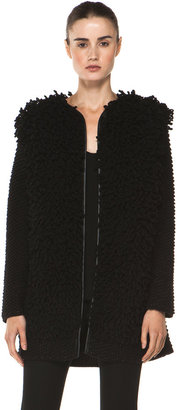 M Missoni Loop Stitch Coat in Black