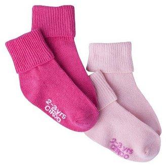 Circo Infant Toddler Girls' 2 Pack Casual Socks - Pink