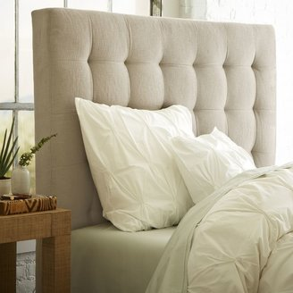 west elm Grid-Tufted Headboard - Tall