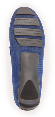 Neiman Marcus Rob Perforated Loafer, French Blue