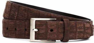 Brooks Brothers Sueded Crocodile Leather Belt