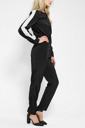 Sparkle & Fade Long-Sleeve Colorblock Jumpsuit