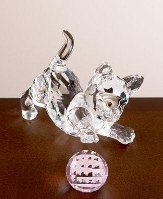 "Swarovski Kitten Standing"" Figurine"