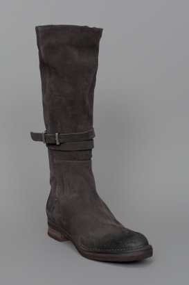 Alberto Fermani Buckled Tall Boot Carbon