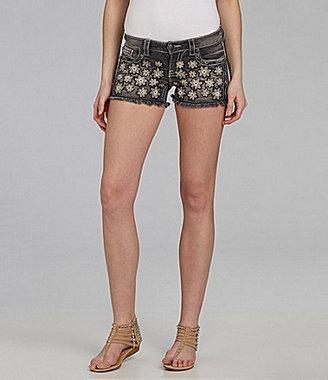Miss Me Cherry Blossom Denim Shorts