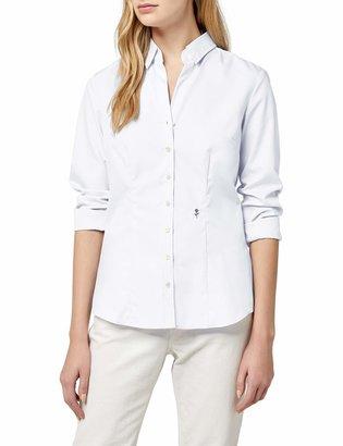 Seidensticker Ladies Shirt blouse slim fit Longsleeve non-iron with black rose monochrome White (Wei 01) 12 UK (40 EU)