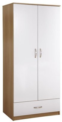 Panacea High Gloss 2-door, 1-drawer Wardrobe