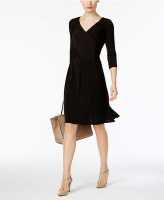 NY Collection B-Slim Three-Quarter-Sleeve Dress $70 thestylecure.com