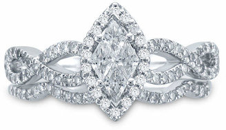 JCPenney MODERN BRIDE 3/4 CT. T.W. Diamond 14K White Gold Marquise-Style Bridal Ring Set