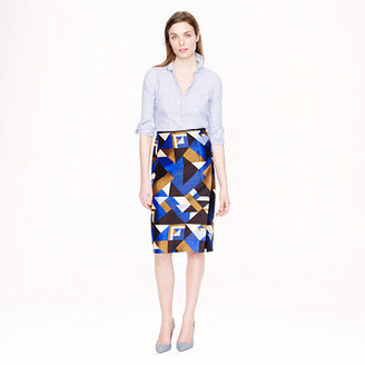 J.Crew Collection pencil wrap skirt in cubist print