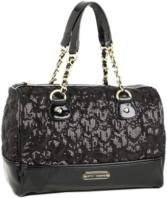 Betsey Johnson High Sequency Satchel (Black) - Bags and Luggage