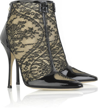 Roberto Cavalli Lace ankle boots