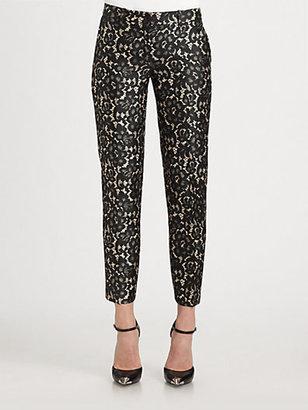 Michael Kors Samantha Lace-Print Pants