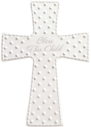 "Gibson C.r. bless this child"" ceramic cross"