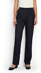 Lands' End Women's Tall 7 Day Elastic Waist Pants-True Navy $45 thestylecure.com