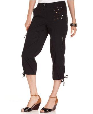 Style&Co. Pants, Studded Cargo Capri