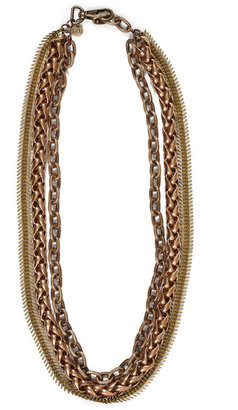 Luv Aj Spike Necklace in Bronze -