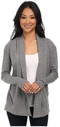 Alternative Jersey Rib Sleeve Wrap (Eco Grey) Women's Sweater