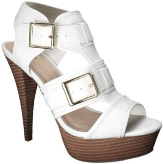 Mossimo Women's Pavan Buckle Heel Sandal - White