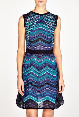 M Missoni Patchwork Wave Knit Dress