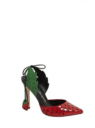 Alice + Olivia Daiquiri Smooth Patent Leather Combo Heel