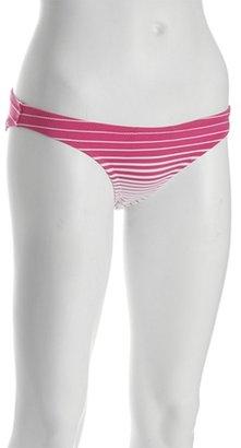 BCBGMAXAZRIA fuchsia striped bikini bottoms