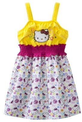 Hello Kitty Infant Toddler Girls' Print Sundress - Yellow