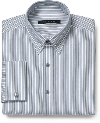 Sean John Dress Shirt, Big and Tall Opal Multi-Stripe Long-Sleeved Shirt with French Cuff