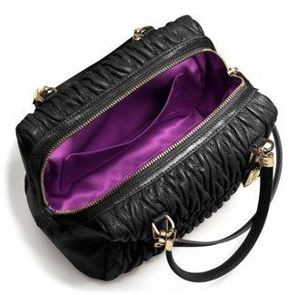 Coach Madison Mini Satchel In Gathered Twist Leather