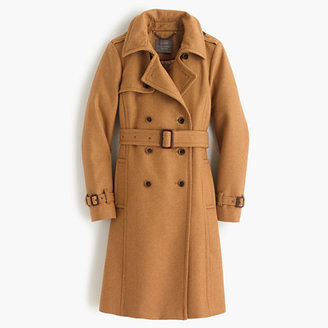 Petite icon trench coat in wool-cashmere $365 thestylecure.com