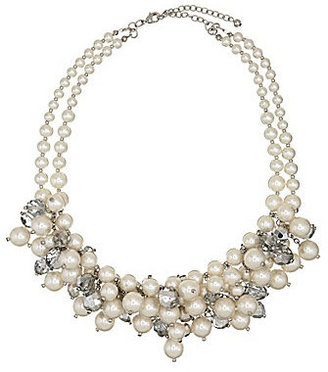 Cezanne Glass Pearl Bead Cluster Necklace