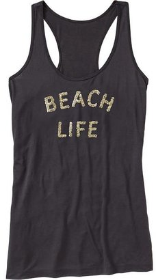 Old Navy Women's Sequined-Graphic Racerback Tanks