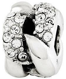 Prerogatives Sterling Swarovski Crystal Link Pattern Bead $48 thestylecure.com
