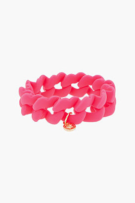 Marc by Marc Jacobs Hot pink Haute Mess Rubber Turnlock Key Bracelet